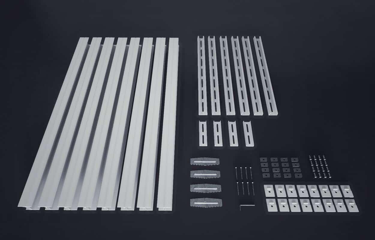 overhead garage storage full system kit with hardware