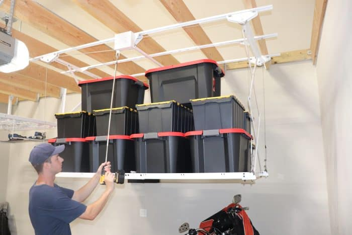 Retractable Ceiling Storage Rack