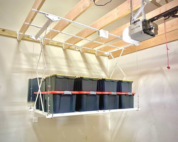 Scissor Loft Retractable Ceiling storage rack