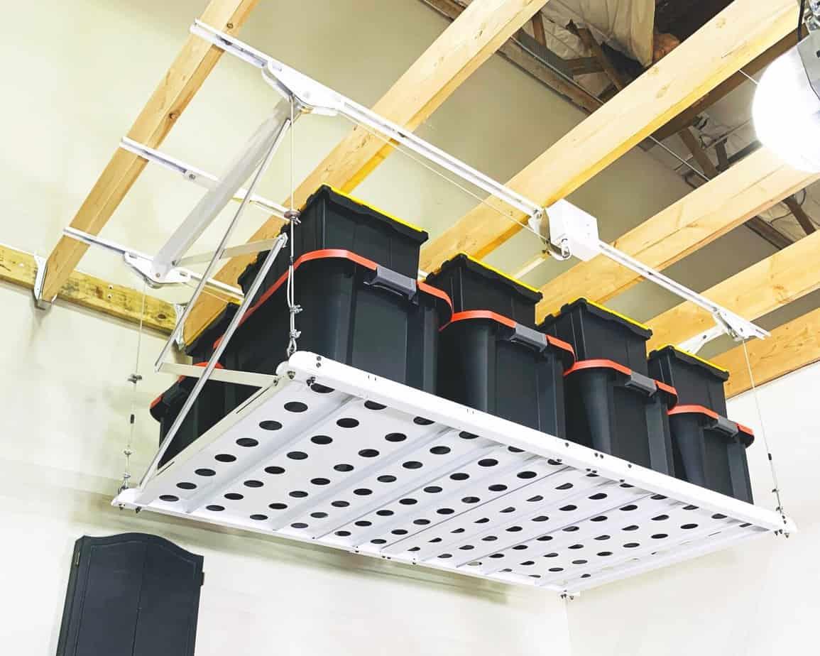 Syzzor Loft The 1 Retractable Overhead Ceiling Storage Lift